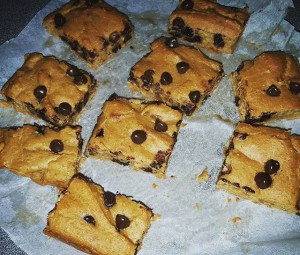 chickpea cookie bar